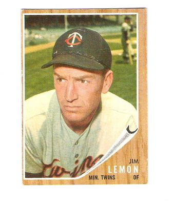 1962 Topps #510 Jim Lemon