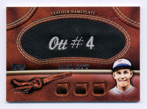 2011 Topps Glove Manufactured Leather Nameplates Black #MO Mel Ott S2
