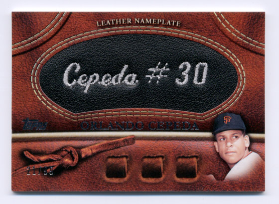 2011 Topps Glove Manufactured Leather Nameplates Black #OC Orlando Cepeda S2