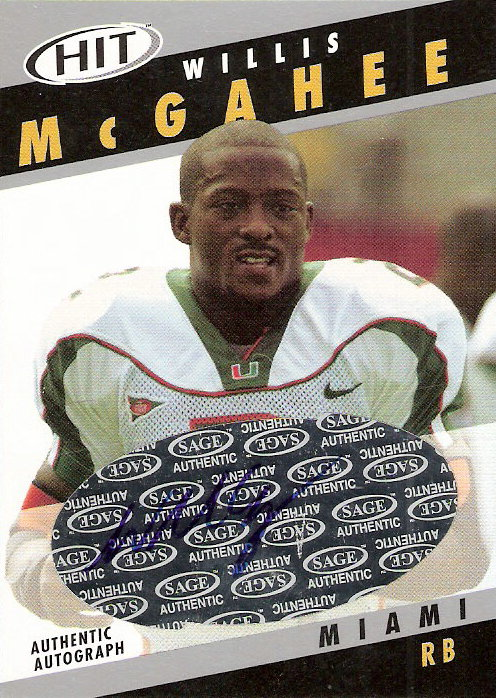 2003 SAGE HIT Autographs Silver #A2 Willis McGahee