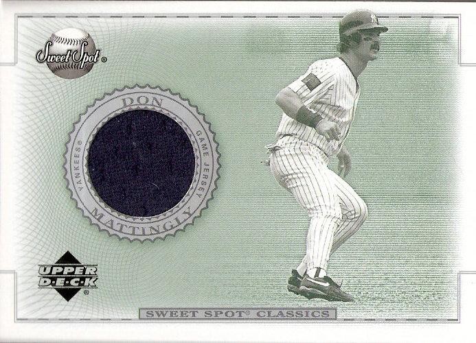 2002 Sweet Spot Classics Game Jersey #JDM Don Mattingly DP
