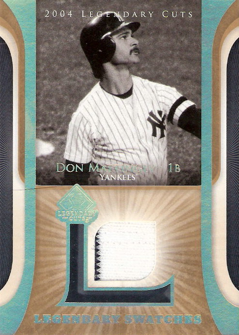 2004 SP Legendary Cuts Legendary Swatches #DM Don Mattingly Jsy