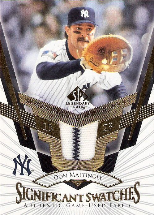 2004 SP Legendary Cuts Significant Swatches #MA Don Mattingly Jsy