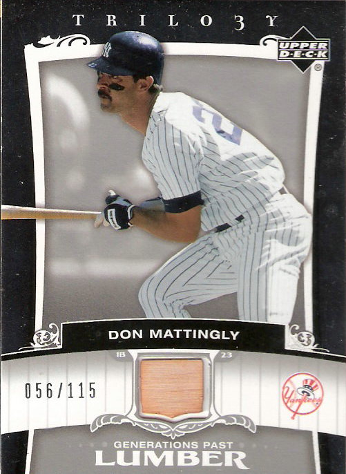 2005 Upper Deck Trilogy Generations Past Lumber Silver #MA Don Mattingly/115