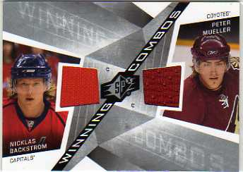 2008-09 SPx Winning Combos #WCBM Nicklas Backstrom/Peter Mueller
