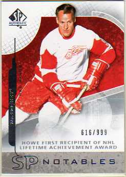 2008-09 SP Authentic #113 Gordie Howe N
