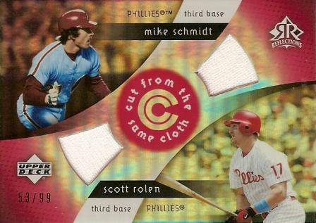 2005 Reflections Cut From the Same Cloth Dual Jersey Red #SR Mike Schmidt/Scott Rolen