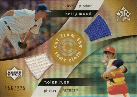 2005 Reflections Cut From the Same Cloth Dual Jersey #WR Kerry Wood/Nolan Ryan