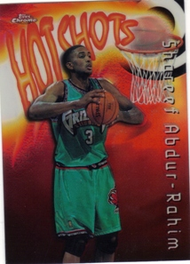 1997-98 Topps Chrome Season's Best Refractors #SB28 Shareef Abdur-Rahim
