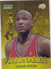 1999-00 Stadium Club Chrome Visionaries Refractors #V4 Lamar Odom