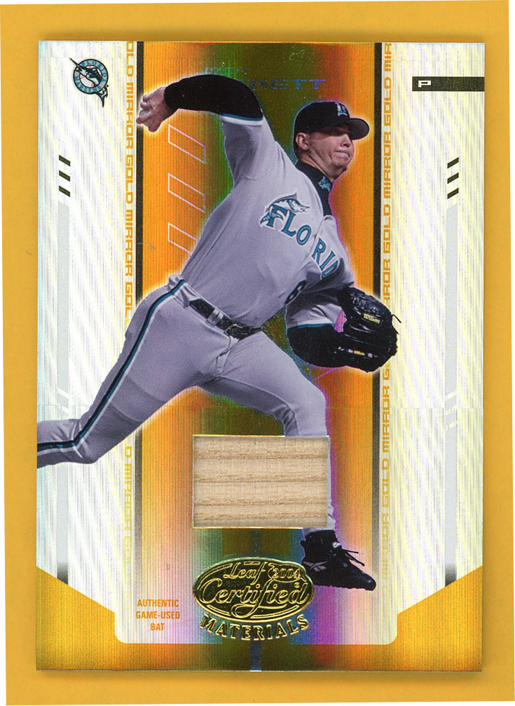 2004 Leaf Certified Materials Mirror Bat Gold #110 Josh Beckett