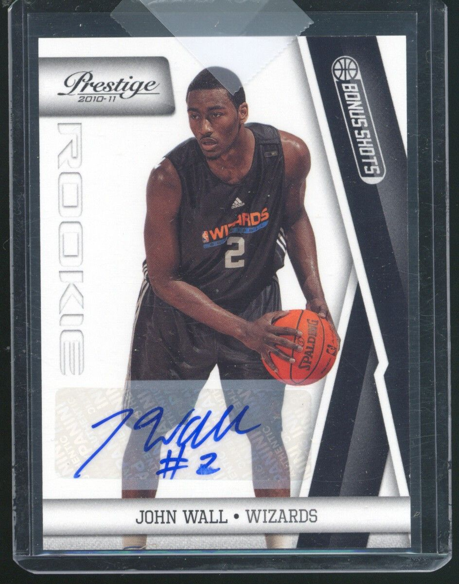 2010-11 Prestige Bonus Shots Black Signatures #211 John Wall/99