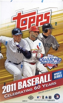 2011 Topps Baseball Update Series Factory Sealed HOBBY Box - 1 Autograph Or Relic Card Per Box + A Derek Jeter - In Stock Now