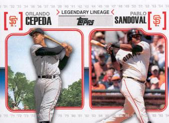 2010 Topps Legendary Lineage #LL32 Orlando Cepeda/Pablo Sandoval