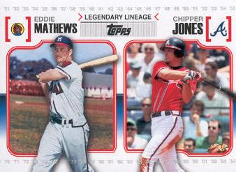 2010 Topps Legendary Lineage #LL34 Eddie Mathews/Chipper Jones