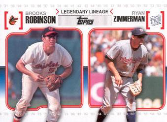 2010 Topps Legendary Lineage #LL56 Brooks Robinson/Ryan Zimmerman
