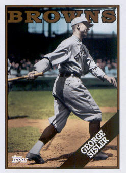 2010 Topps Vintage Legends Collection #VLC5 George Sisler