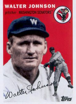 2010 Topps Vintage Legends Collection #VLC8 Walter Johnson