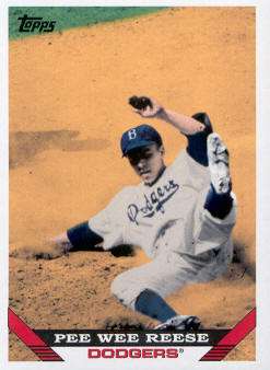2010 Topps Vintage Legends Collection #VLC24 Pee Wee Reese