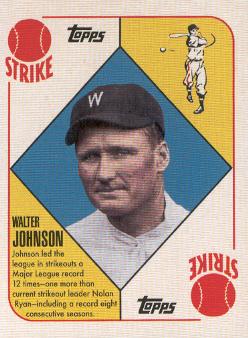 2010 Topps Vintage Legends Collection #VLC50 Walter Johnson