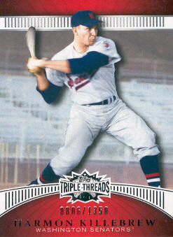 2010 Topps Triple Threads #2 Harmon Killebrew