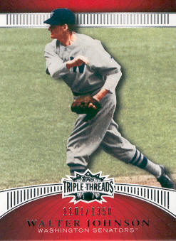 2010 Topps Triple Threads #49 Walter Johnson