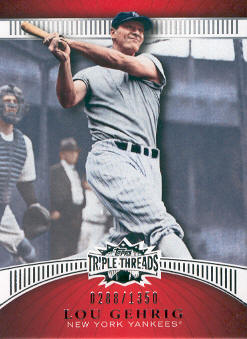 2010 Topps Triple Threads #88 Lou Gehrig