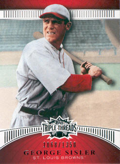 2010 Topps Triple Threads #99 George Sisler