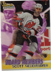1998-99 OPC Chrome Board Members Refractors #B8 Scott Niedermayer