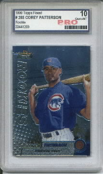 1999 Topps Finest #285 Corey Patterson Graded Gem Mint 10