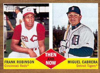 2011 Topps Heritage Then and Now #TN2 Frank Robinson/Miguel Cabrera