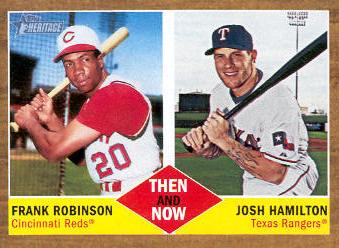 2011 Topps Heritage Then and Now #TN3 Frank Robinson/Josh Hamilton