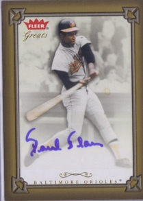 2004 Greats of the Game Autographs #PB Paul Blair G1