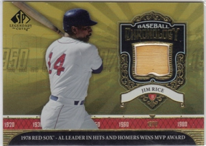 2006 SP Legendary Cuts Baseball Chronology Materials #RI Jim Rice Bat