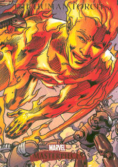2007 Marvel Masterpieces #38 The Human Torch