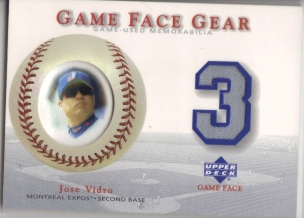 2003 Upper Deck Game Face Gear #JV Jose Vidro