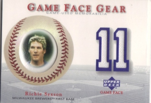 2003 Upper Deck Game Face Gear #RS Richie Sexson