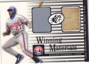 2000 SPx Winning Materials #VG1 V.Guerrero Bat-Jsy