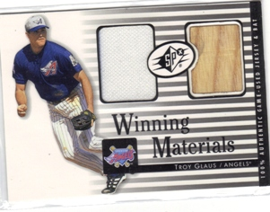2000 SPx Winning Materials #GL T.Glaus Bat-Jsy