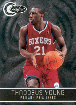 2010-11 Totally Certified #4 Thaddeus Young