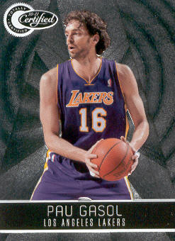 2010-11 Totally Certified #70 Pau Gasol