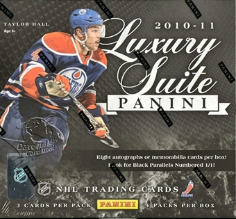 2010 - 11 ( 2011 ) Panini Luxury Suite Hockey Factory Sealed Hobby Box With A Total Of 8 AUTOGRAPHS Or MEMORABILIA Cards & 4 Sequentially #ed ROOKIES Per Box - In Stock Now front image