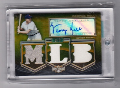 2010 Topps Triple Threads Autograph MLB Die Cut Relics Gold #GK George Kell