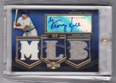 2010 Topps Triple Threads Autograph MLB Die Cut Relics Platinum #GK George Kell