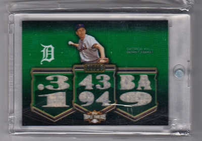 2010 Topps Triple Threads Relics Emerald #R82 George Kell
