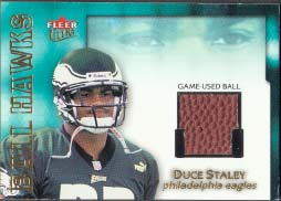 2001 Ultra Ball Hawks Duce Staley