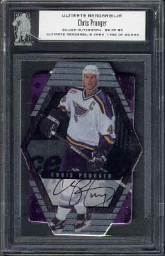 2000-01 Be A Player Ultimate Memorabilia Autographs Silver #U-42, Chris Pronger /90