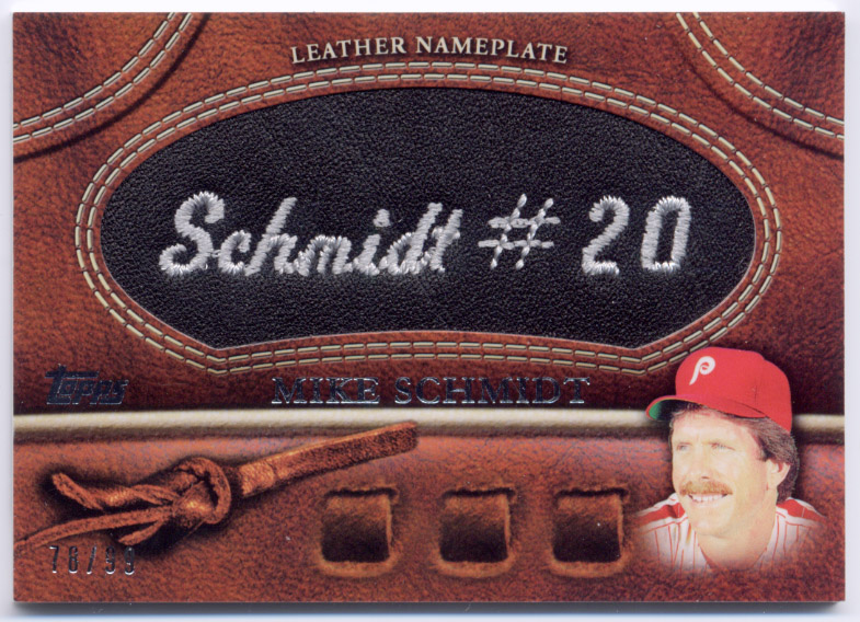 2011 Topps Glove Manufactured Leather Nameplates Black #MS Mike Schmidt S2