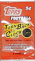 2005 Topps Turn Back the Clock football pack