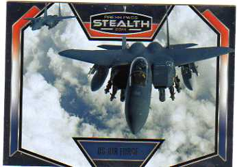 2011 Press Pass Stealth U.S. Military #USAF Air Force